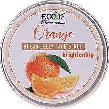 Fragrances, Perfumes, Cosmetics Brightening Sugar Jelly & Orange Face Scrub - Eco U Orange Brightening Sugar Jelly Face Scrub