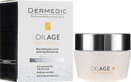 Fragrances, Perfumes, Cosmetics Phytoestrogens Anti-Aging Day Cream 40-60+ - Dermedic Oilage Tri Oleum