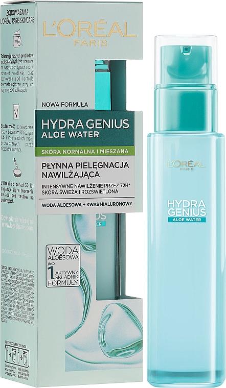 Face Aqua-Fluid for Normal & Combination Skin - L'Oreal Paris Hydra Genius Aloe Water