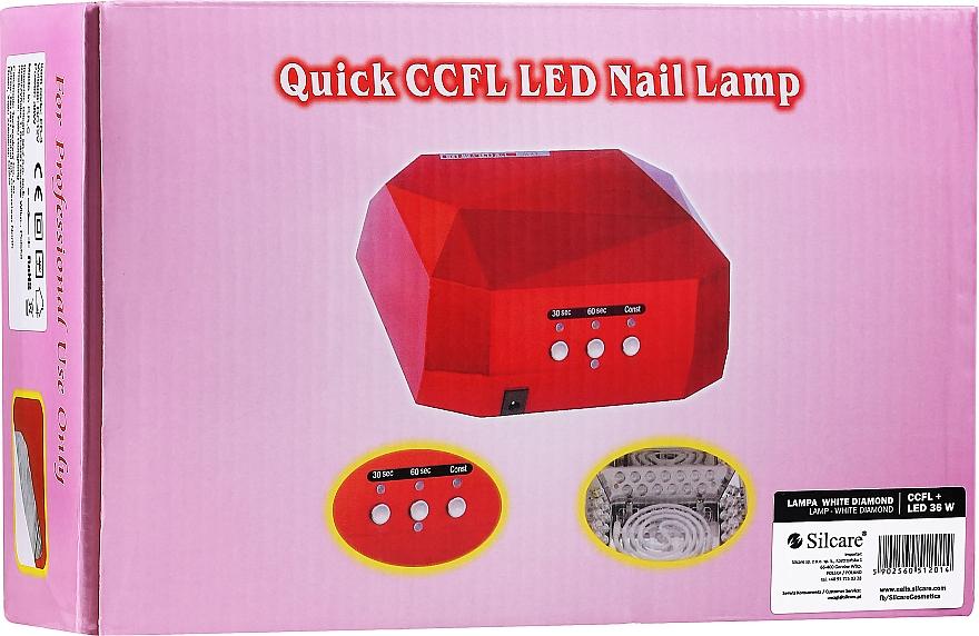 Nail Lamp - Silcare Diamond LED CCFL UV 36W Lamp White — photo N1