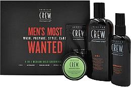Fragrances, Perfumes, Cosmetics Set - American Crew Men's Most Wanted (shm/250ml + cr/50g + spray/100ml + balm/7.4ml)