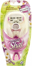Fragrances, Perfumes, Cosmetics Shaving Razor with 2 Replaceable Cassettes - Dorco Shai 3+3